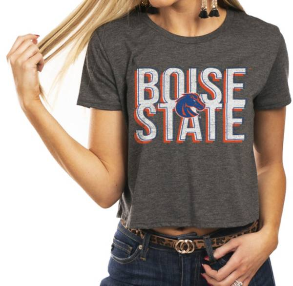 Gameday Couture Women's Boise State Broncos Grey Home Team Advantage Vintage Vibe Crop Top product image