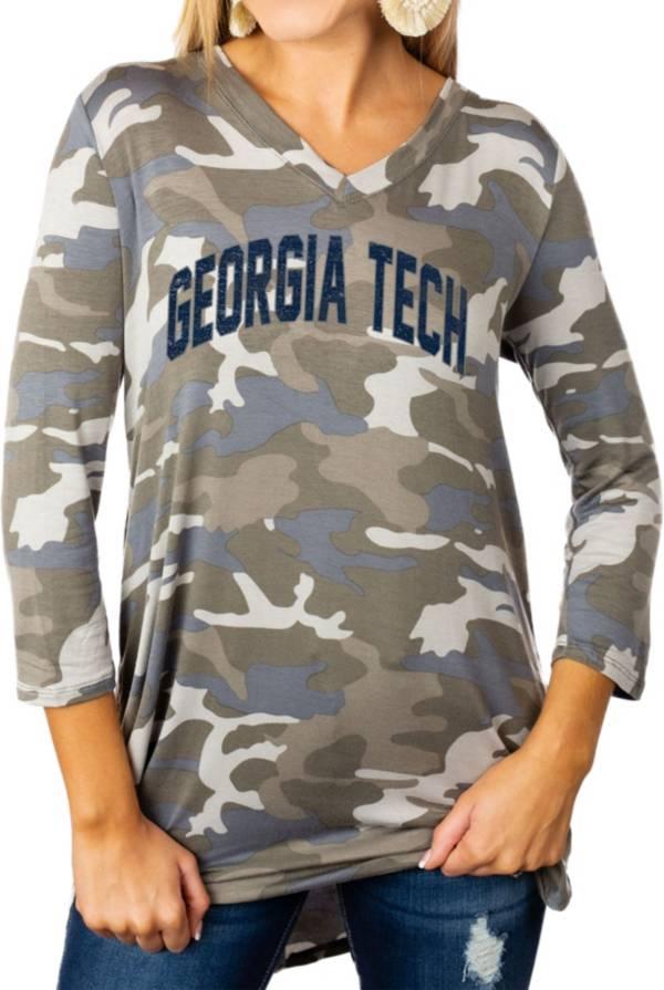 Gameday Couture Women's Georgia Tech Yellow Jackets Camo Hidden Treasures ¾ Sleeve Tunic Shirt product image