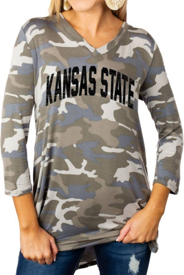 Gameday Couture Women's Kansas State Wildcats Camo Hidden Treasures ¾ Sleeve Tunic Shirt product image
