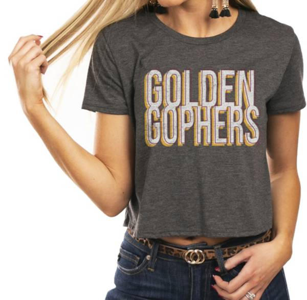 Gameday Couture Women's Minnesota Golden Gophers Grey Home Team Advantage Vintage Vibe Crop Top product image