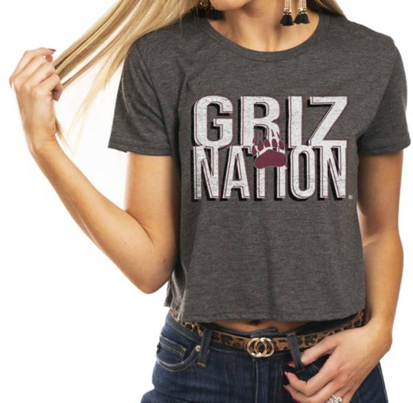 Gameday Couture Women's Montana Grizzlies Grey Home Team Advantage Vintage Vibe Crop Top product image