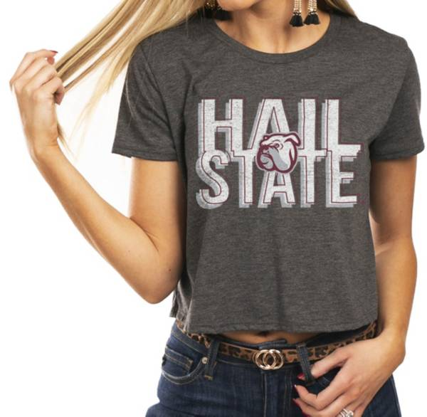Gameday Couture Women's Mississippi State Bulldogs Grey Home Team Advantage Vintage Vibe Crop Top product image