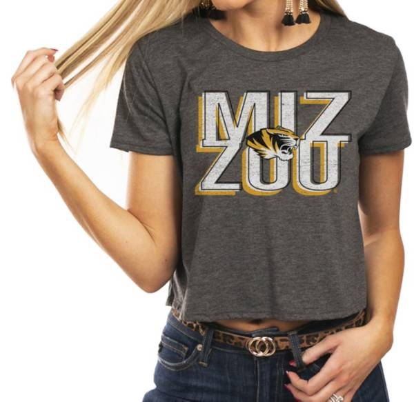 Gameday Couture Women's Missouri Tigers Grey Home Team Advantage Vintage Vibe Crop Top product image