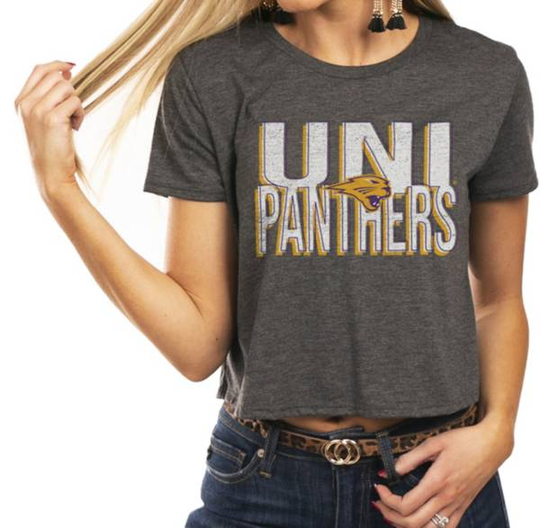 Gameday Couture Women's Northern Iowa Panthers  Grey Home Team Advantage Vintage Vibe Crop Top product image