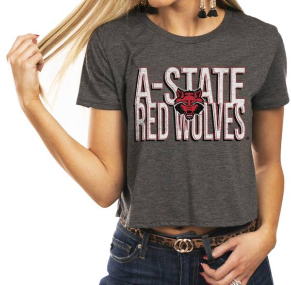 Gameday Couture Women's Arkansas State Red Wolves Grey Home Team Advantage Vintage Vibe Crop Top product image