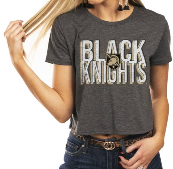 Gameday Couture Women's Army West Point Black Knights Grey Home Team Advantage Vintage Vibe Crop Top product image