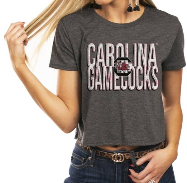 Gameday Couture Women's South Carolina Gamecocks Grey Home Team Advantage Vintage Vibe Crop Top product image