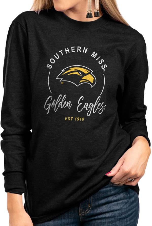 Gameday Couture Women's Southern Miss Golden Eagles Varsity Long Sleeve Black T-Shirt product image