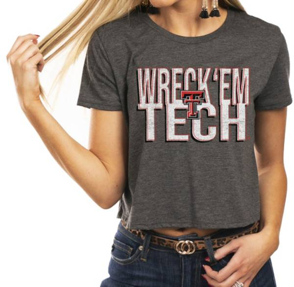 Gameday Couture Women's Texas Tech Red Raiders Grey Home Team Advantage Vintage Vibe Crop Top product image