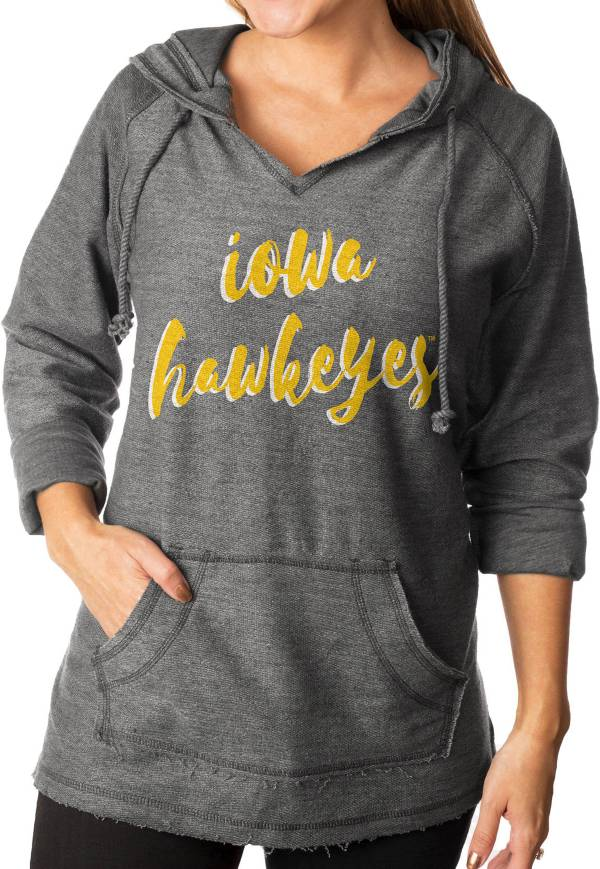 Gameday Couture Women's Iowa Hawkeyes Grey Keeping Cozy French Terry Pullover Hoodie product image