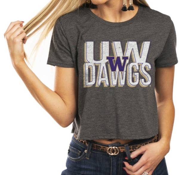 Gameday Couture Women's Washington Huskies Grey Home Team Advantage Vintage Vibe Crop Top product image
