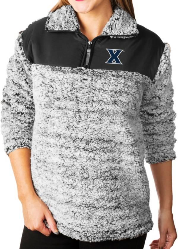 Gameday Couture Women's Xavier Musketeers Grey Winter Essential Sherpa Quarter-Zip Fleece product image