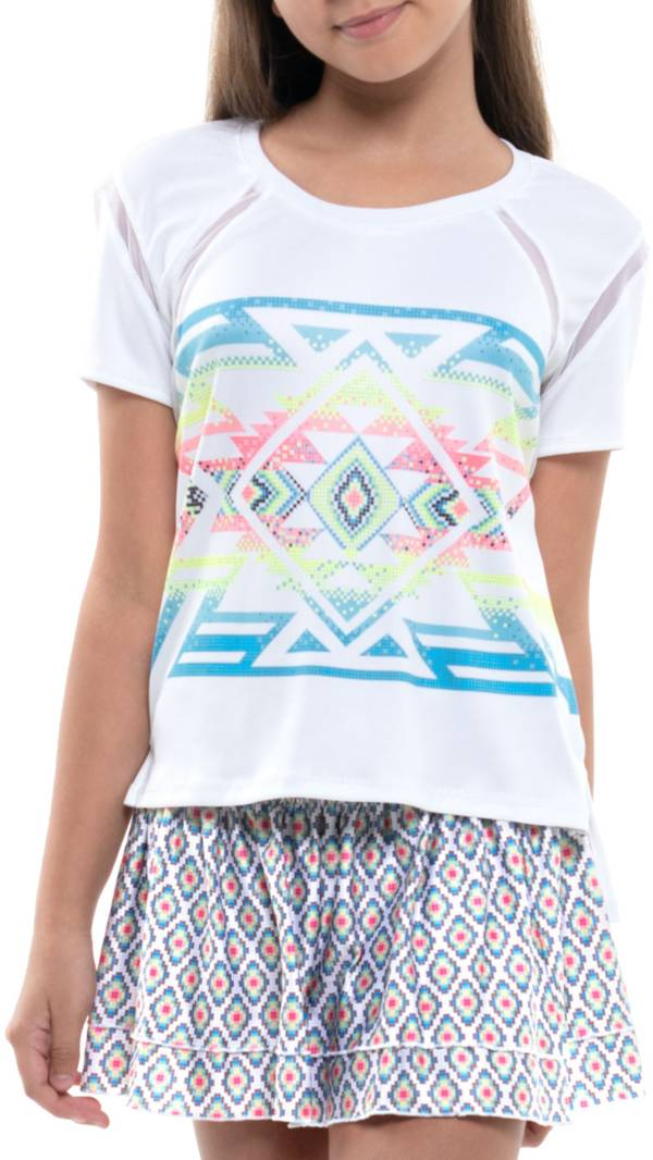 Lucky In Love Girls' Square Are You Tennis Shirt product image