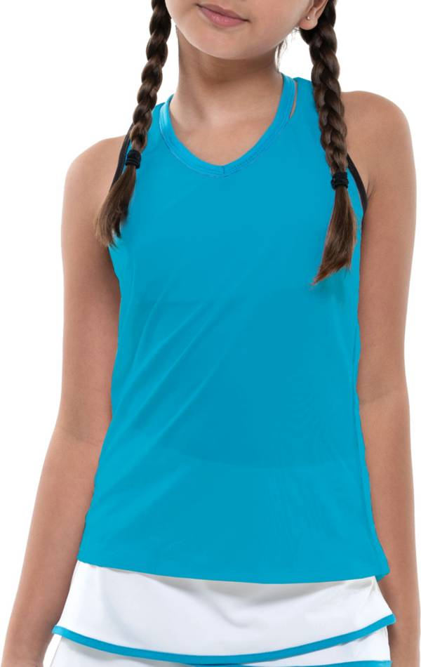 Lucky In Love Girls' V-Neck Cutout Tennis Tank Top product image