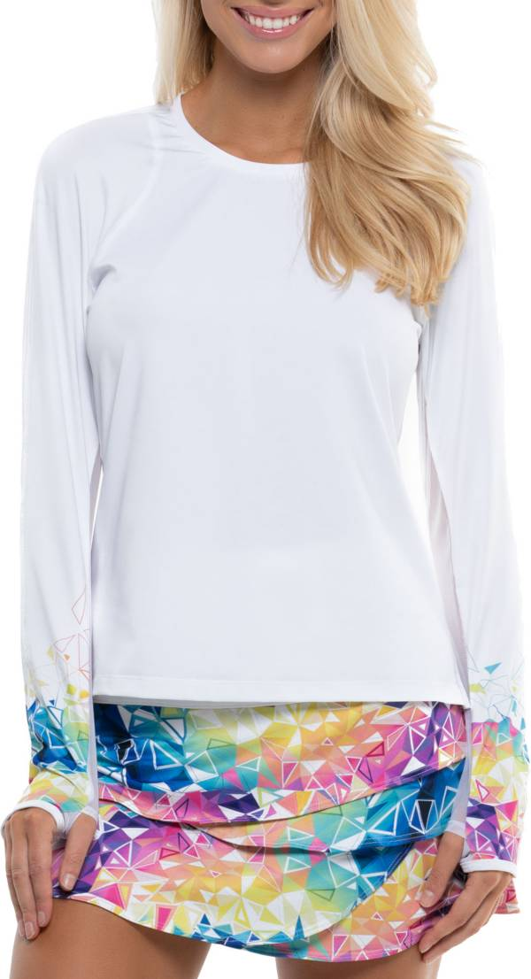 Lucky In Love Women's Geo Long Sleeve Tennis T-Shirt product image