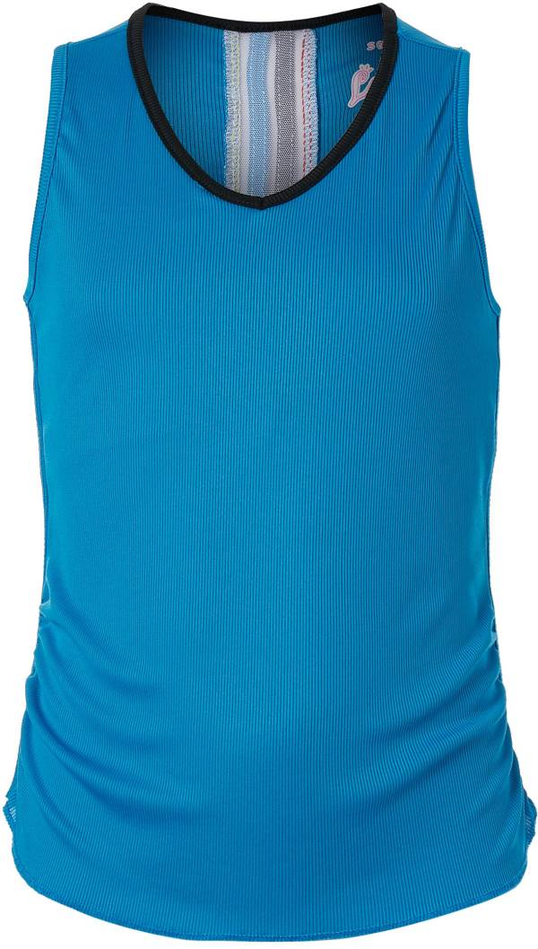 Lucky In Love Girls' Lightweight Rib Tennis Tank product image