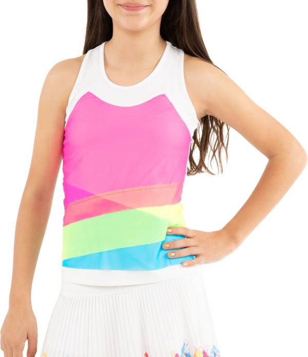 Lucky in Love Girls' Mesh Layer Tennis Tank Top product image