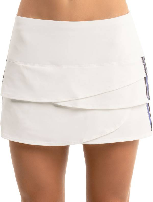 Lucky in Love Women's Prowl Stripe Scallop Tennis Skirt product image