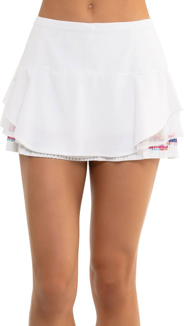 Lucky In Love Women's Techno Border Pleated Tennis Skirt product image