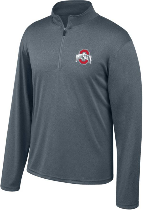 Scarlet & Gray Men's Ohio State Buckeyes Gray Quarter-Zip Shirt product image