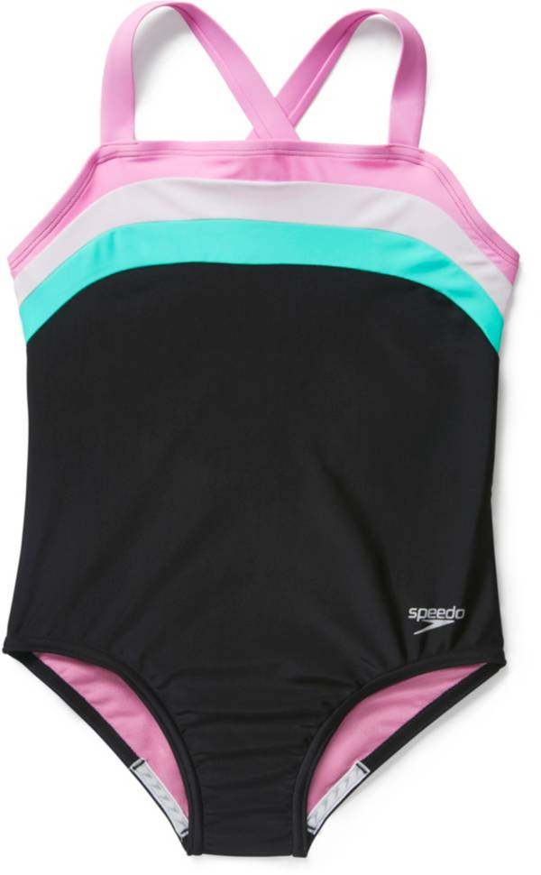 Speedo Girls' Color Blocked One Piece Swimsuit product image