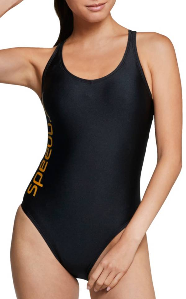 Speedo Women's Gold Thin Strap One Piece Swimsuit product image