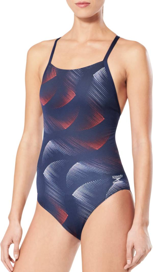 Speedo Women's Stars and Bars Flyback One Piece Swimsuit product image
