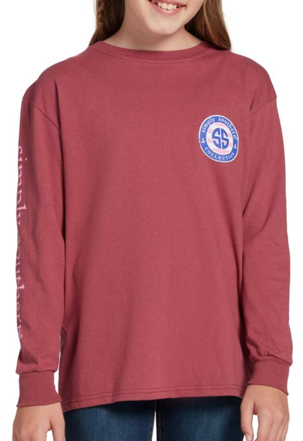 Simply Southern Girls' Strength Long Sleeve T-Shirt product image
