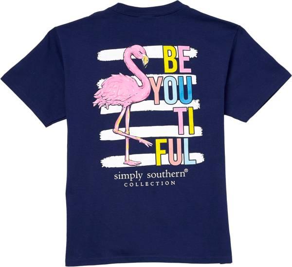 Simply Southern Girls' Flamingo 2 Short Sleeve T-Shirt product image