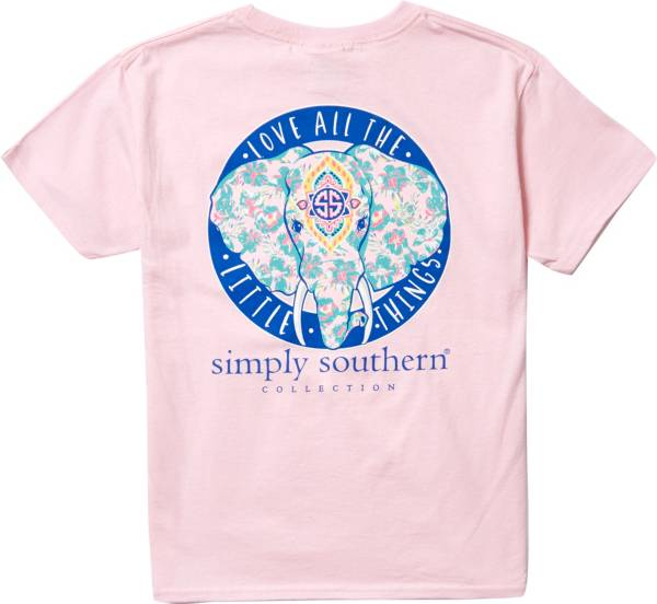 Simply Southern Girls' Elephant Short Sleeve T-Shirt product image