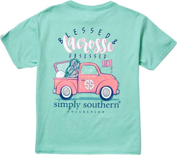 Simply Southern Girls' Lacrosse Pocket Short Sleeve T-Shirt product image
