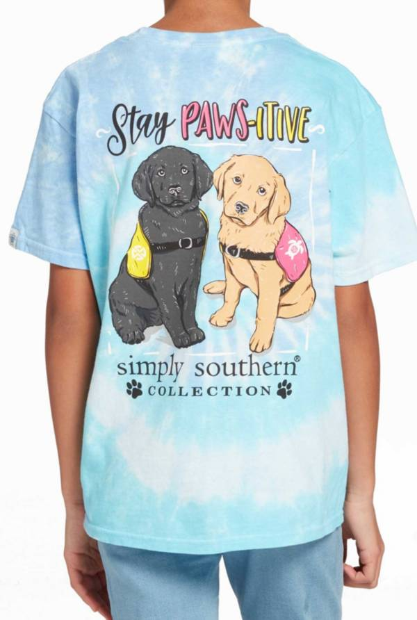 Simply Southern Girls' Short Sleeve Pawsitive T-Shirt product image