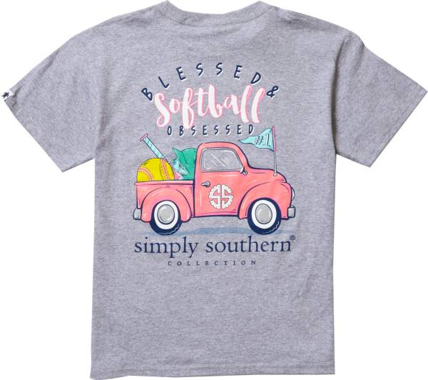 Simply Southern Girls' Softball Short Sleeve T-Shirt product image