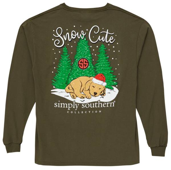 Simply Southern Women's Snow Cute Long Sleeve T-Shirt product image