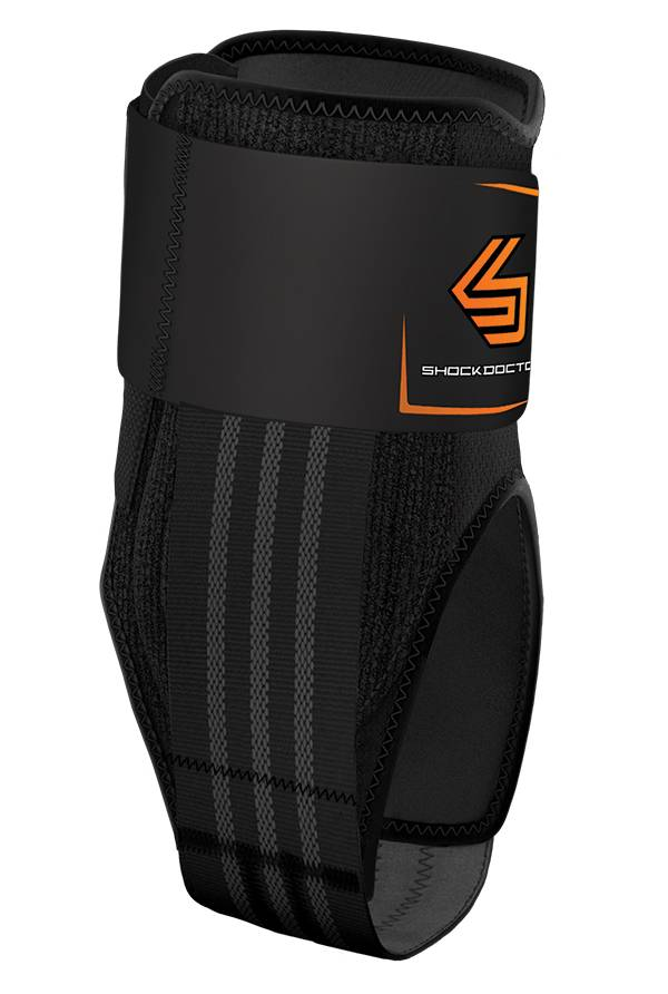 Shock Doctor Laceless Cleat Ankle Brace with Stirrup Stays and Straps product image