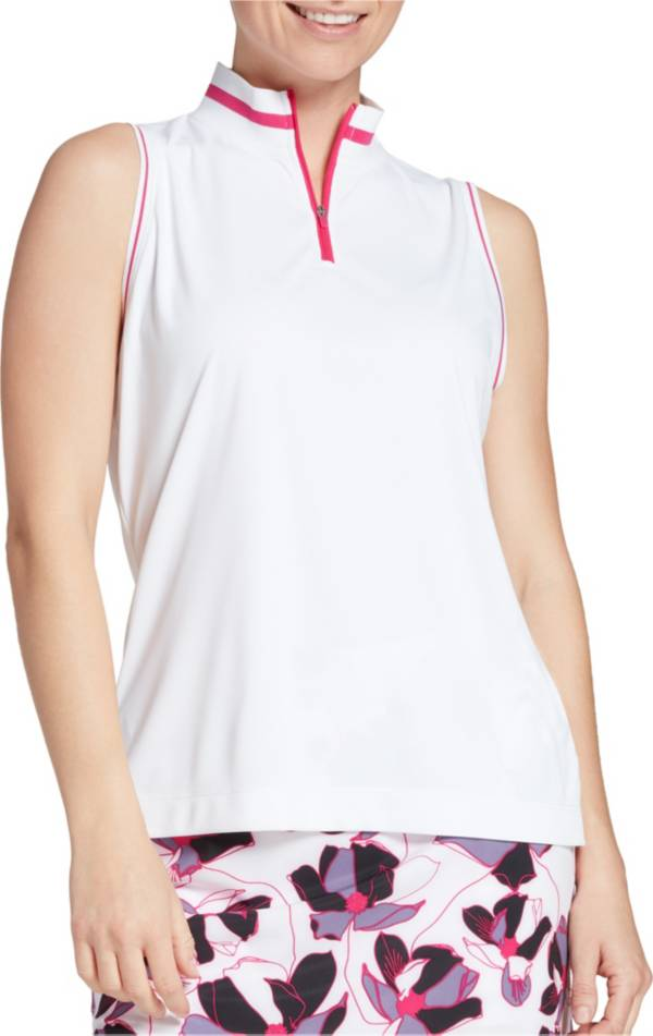 Slazenger Women's Ribbed Mock Sleeveless Golf Polo product image