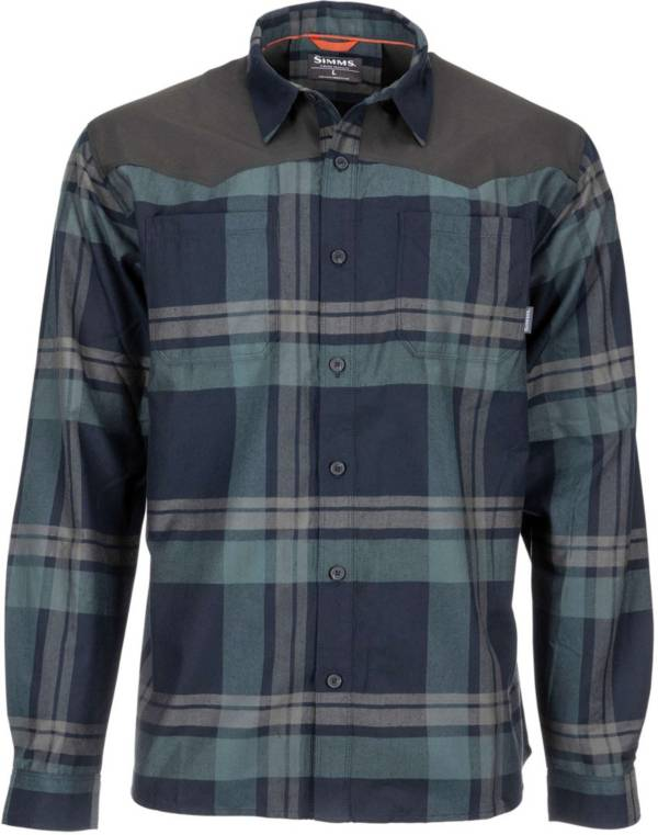 Simms Men's Black's Ford Long Sleeve Flannel Shirt product image
