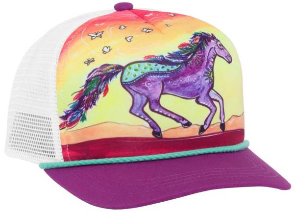 Sunday Afternoons Youth Horse Feather Cooling Trucker Hat product image
