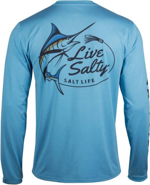 Salt Life Men's Salty Marlin Lure Long Sleeve Fishing Shirt product image