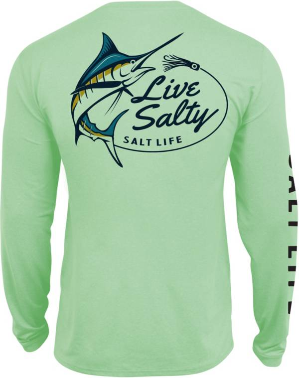 Salt Life Men's Salty Marlin Lure Long Sleeve Fishing Shirt product image
