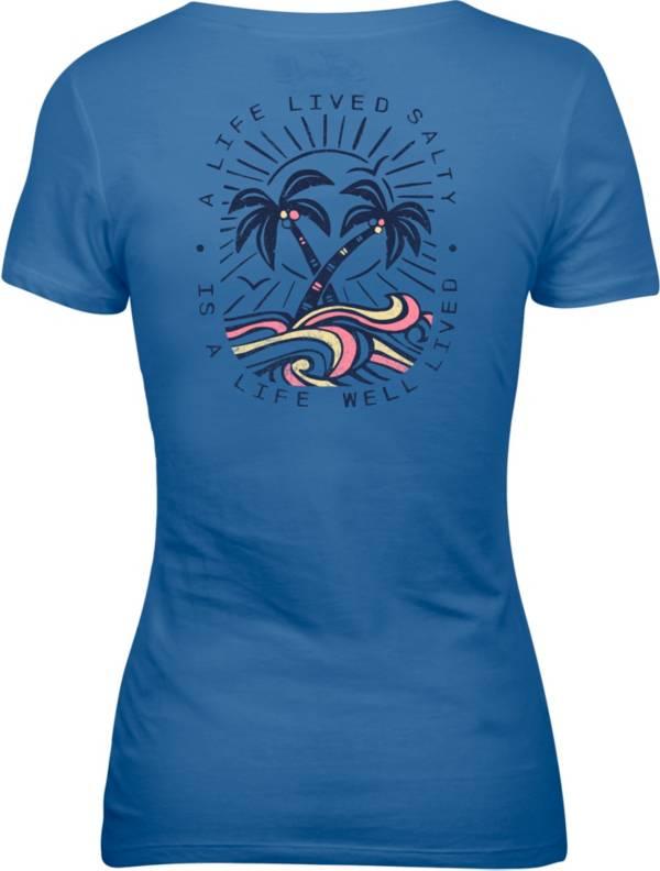 Salt Life Women's Life Lived Salty V-Neck Shirt product image