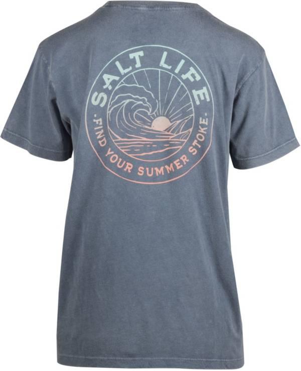 Salt Life Women's Summer Stroke Fade Pocket T-Shirt product image