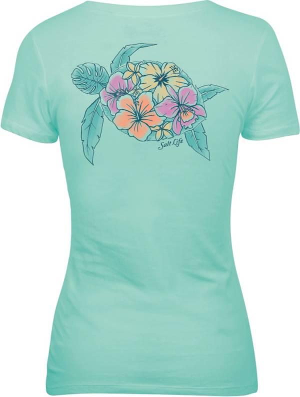 Salt Life Women's Tropical Turtle V-Neck Shirt product image