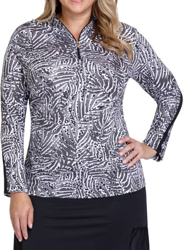 Tail Women's Mock Neck Long Sleeve Golf Pullover – Plus Size product image