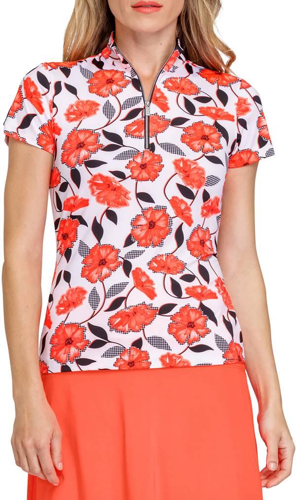 Tail Women's Bethany Mock Zip Neck Short Sleeve Shirt product image