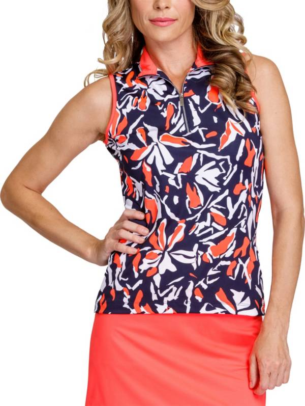 Tail Women's Printed ¼ Zip Sleeveless Golf Polo product image