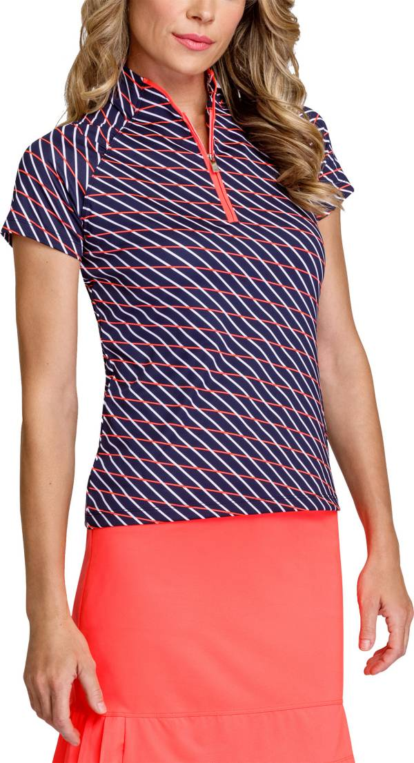 Tail Women's Pieced ¼ Zip Short Sleeve Golf Polo product image