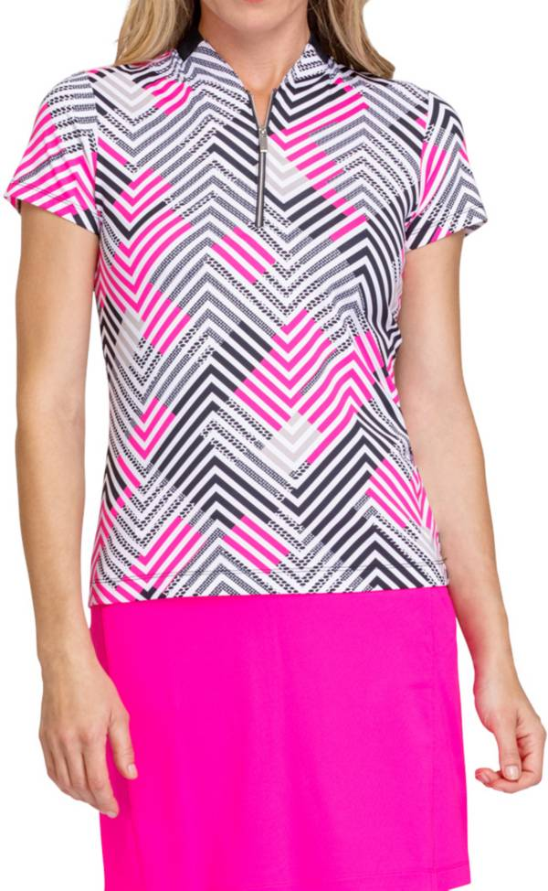 Tail Women's Bomber Collar Short Sleeve Golf Polo product image