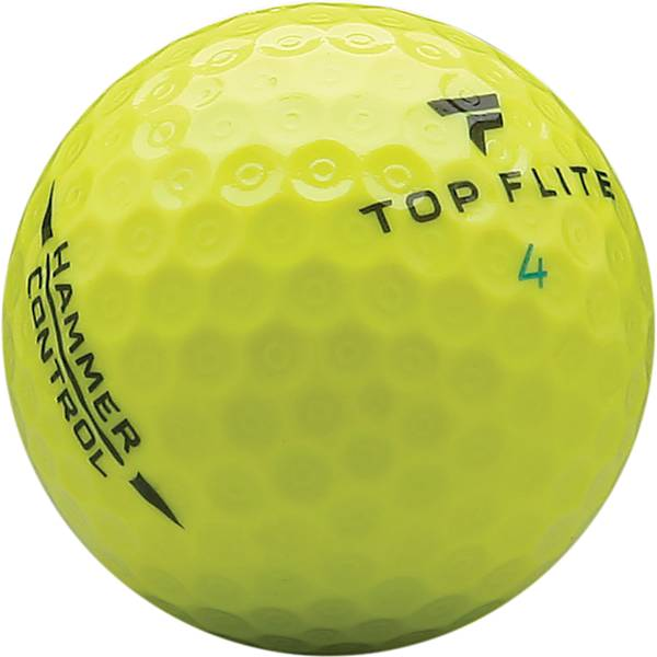 Top Flite 2020 Hammer Control Yellow Personalized Golf Balls – 15 Pack product image