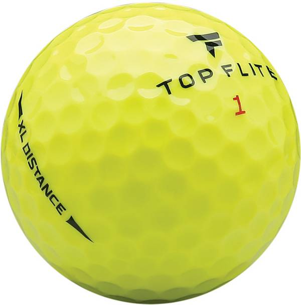 Top Flite 2020 XL Distance Yellow Personalized Golf Balls – 15 Pack product image
